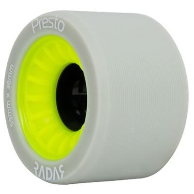 Presto 59mm/91a Roller Skate Wheels- Grey/Yellow