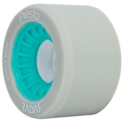 Presto 62mm/88a Roller Skate Wheels- Grey/Turquoise