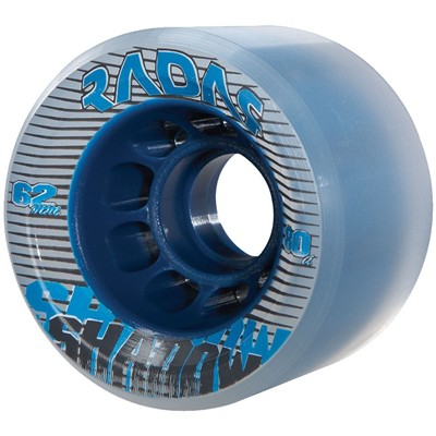 Shadow 62mm/80a Roller Skate Wheels- Clear/Blue