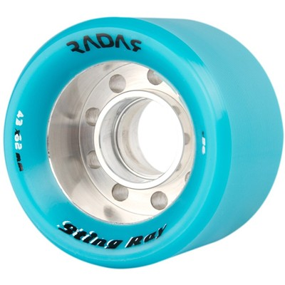 Sting Ray 62mm Roller Skate Wheels- Turquoise