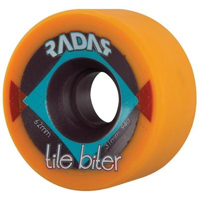 Tile Biter 62x31mm/94a Roller Skate Wheels- Orange
