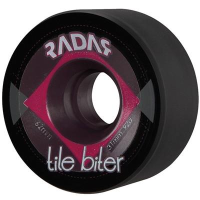 Tile Biter 62mm Roller Skate Wheels- Black