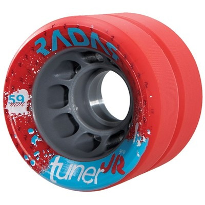 Tuner JR 59mm Derby Roller Skate Wheels-Red