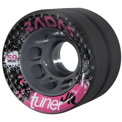 Tuner JR 59mm Derby Roller Skate Wheels- Black