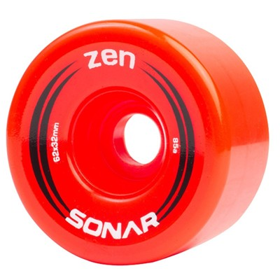 Sonar Zen 62mm/85a Roller Skate Wheels- Red