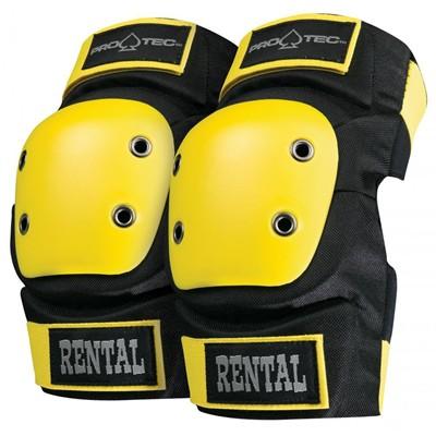 Rental Elbow Pads - Black/Yellow