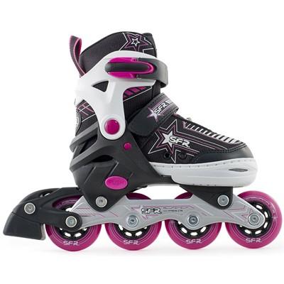 Pulsar Adjustable Recreational Inline Skates - Pink
