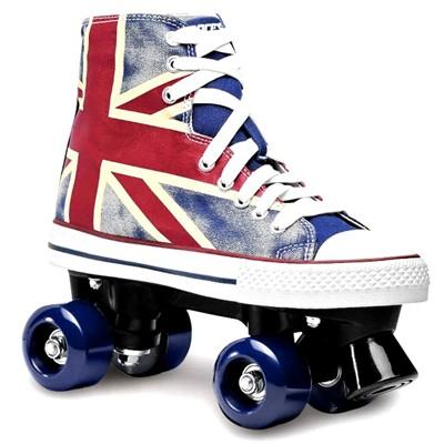 Chuck Union Jack Kids Quad Roller Skates
