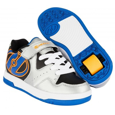 Hyper Silver/Black/Royal Orange Heely Shoe
