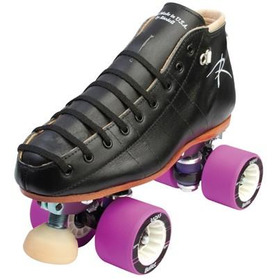 495 Torch Black Quad Roller Skates- Width B/AA