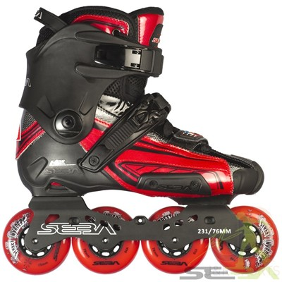 15 High Light Inline Skates - Red/Black LE