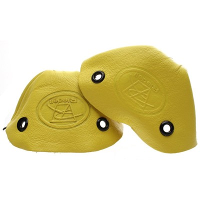 Image of Leather Toe Caps - Yellow