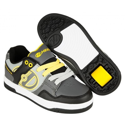 Flow Black/Grey/Yellow Kids Heely Shoe