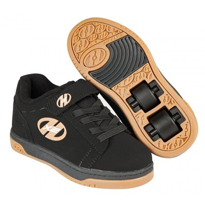 Dual Up Black/Gum Kids Heely X2 Shoe
