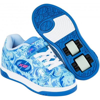 Dual Up Solid Blue/Multi/Marble Kids Heely X2 Shoe