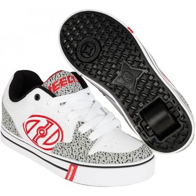 Motion Plus White/Grey/Elephant Heely Shoe