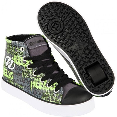 Hustle Black/Grey/Lime/Graffiti Heely Shoe
