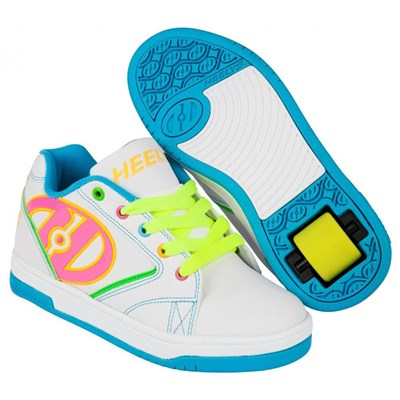 Propel 2.0 White/Neon Multi Kids Heely Shoe