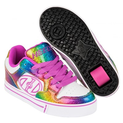 Motion Plus White/Rainbow/Hot Pink Heely Shoe