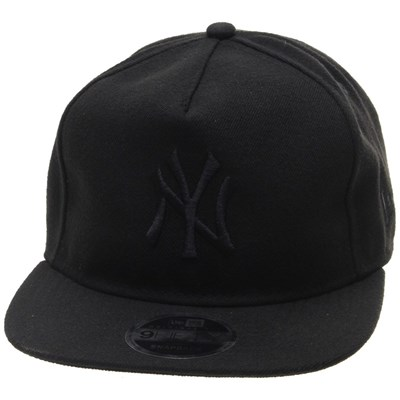 Tonal Unstructured 9FIFTY Original Fit Snapback - NY Yankees Black