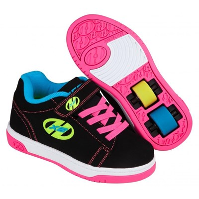Dual Up Black/Neon Multi Kids Heely X2 Shoe