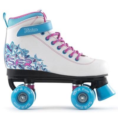 Vision II White/Blue Kids Quad Roller Skates