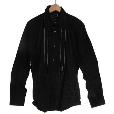 Greco Ruffle L/S Shirt - Black