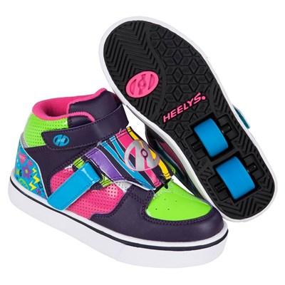 Tornado Purple/Neon Heely Shoe