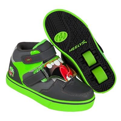 Tornado Dark Grey/Light Grey/Green  Heely Shoe