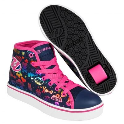 Veloz Dark Denim/Rainbow Kids Heely Shoe