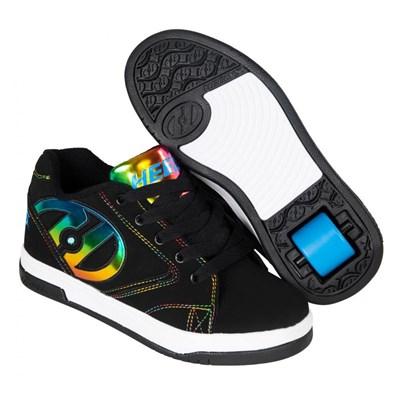 Propel 2.0 Black/Rainbow Foil Kids Heely Shoe