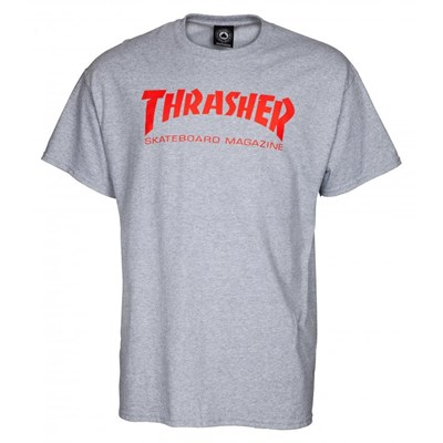 Skate Mag S/S T-Shirt - Grey/Red