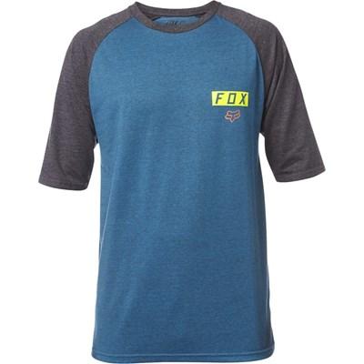 Moth S/S Raglan T-Shirt - Heather Maui Blue