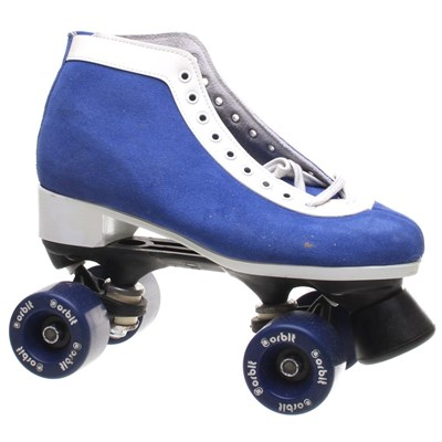RC Sports Suede Lo Quad Roller Skates - Blue/White