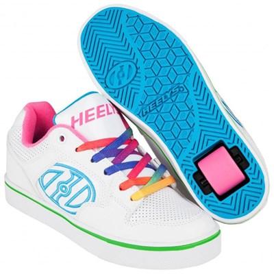 Motion Plus White/Rainbow Kids Heely Shoe