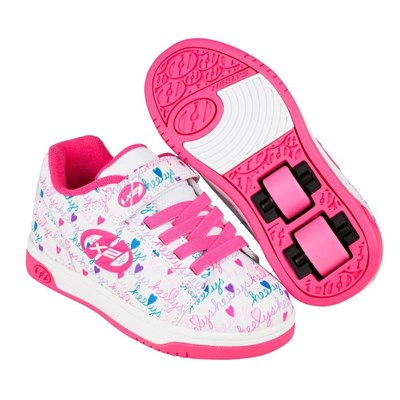 Dual Up White/Pink/Multi Kids Heely X2 Shoe