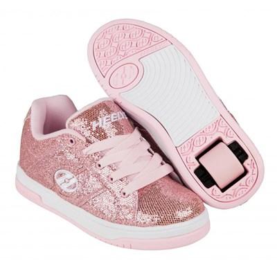 Split Light Pink/Disco Glitter Kids Heely Shoe