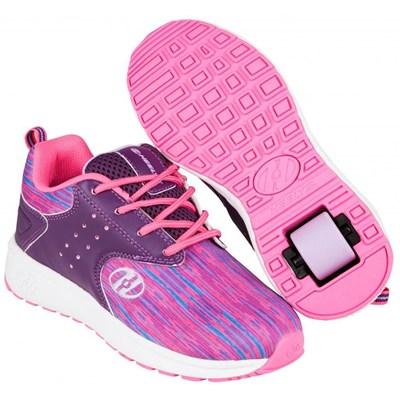 Velocity Purple/Neon Pink/Lilac Kids Heely Shoe