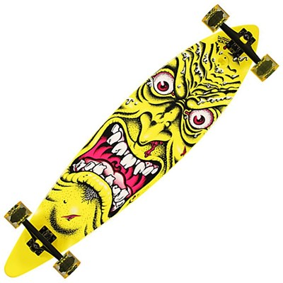 Rob Face Yellow Pintail Complete Longboard Cruzer