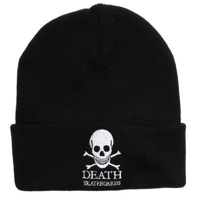 Death OG Skull Logo Cuff Beanie - Black