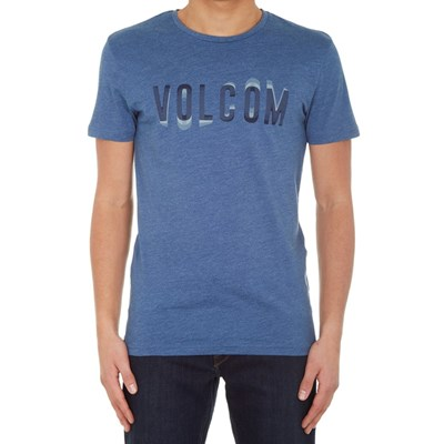 Warble Heather S/S T-Shirt - Smoky Blue