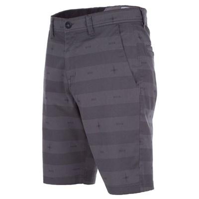 Frickin Mod Stripe Print Chino Shorts - Pewter