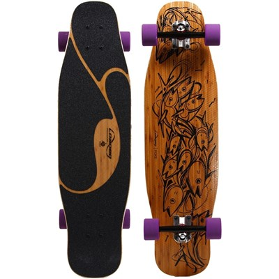 Poke Complete Longboard with Orangutang Fat Free Wheels