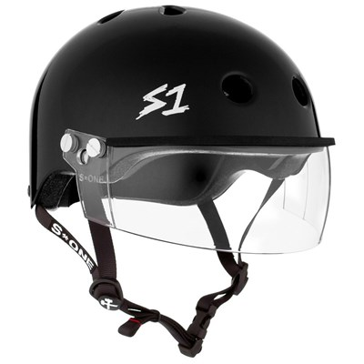 Lifer Helmet inc Visor - Black Gloss