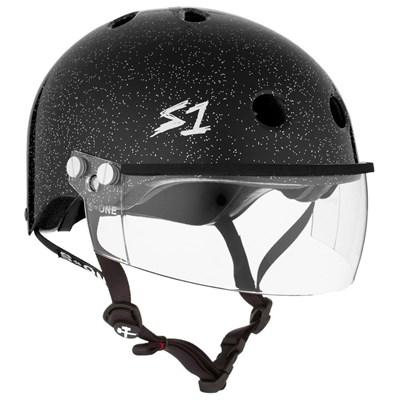 Lifer Helmet inc Visor - Black Glitter