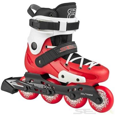 16 FR Junior Adjustable Inline Skates - Red