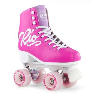 Script Quad Roller Skates - Pink/Lilac