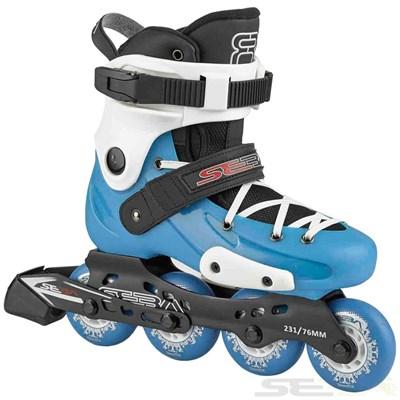 16 FR Junior Adjustable Inline Skates - Blue