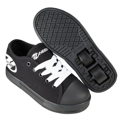 Fresh Black/Black/White Kids HX2 Heely Shoe