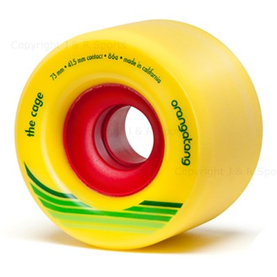 Cage Centreset Longboard Wheels - Yellow